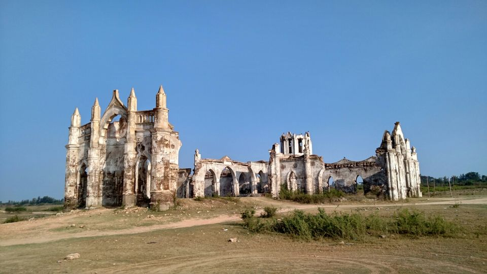Photos of Shettihalli Rosary Church - Photography in the middle of a RIVER. 1/1 by Vijay Kishore Reddy R