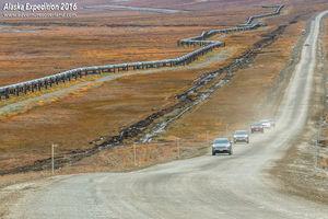 Daring drive on Dalton Highway, Alaska