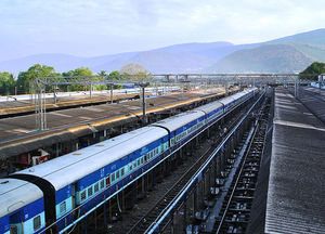Travelling across India by rail