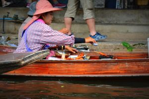 Floating market in Bangkok.