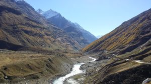 Riding through Lahaul Spiti