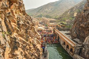 Galta Ji Temple: Natural Water Spring near Jaipur