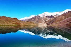 Dip in Chandrataal Lake freezing water at 4300m :)