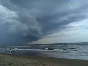 Beach Times at Pondicherry